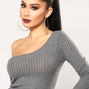 Fashion Nova Long sleeve off shoulder sweater